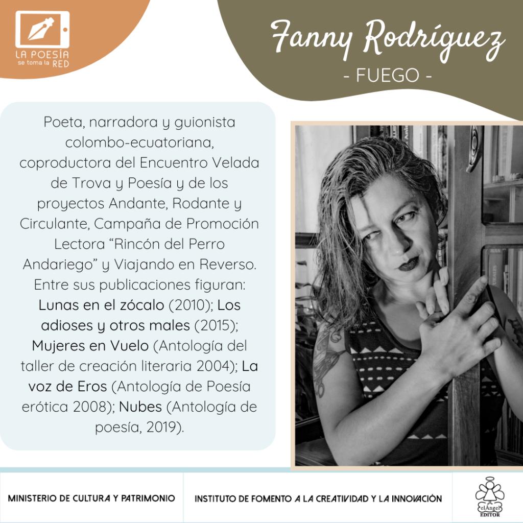 """Fanny Rodríguez, poeta que participa en """"La poesía se toma la red"""", con un texto para la antología """"De repente, la vida"""""""