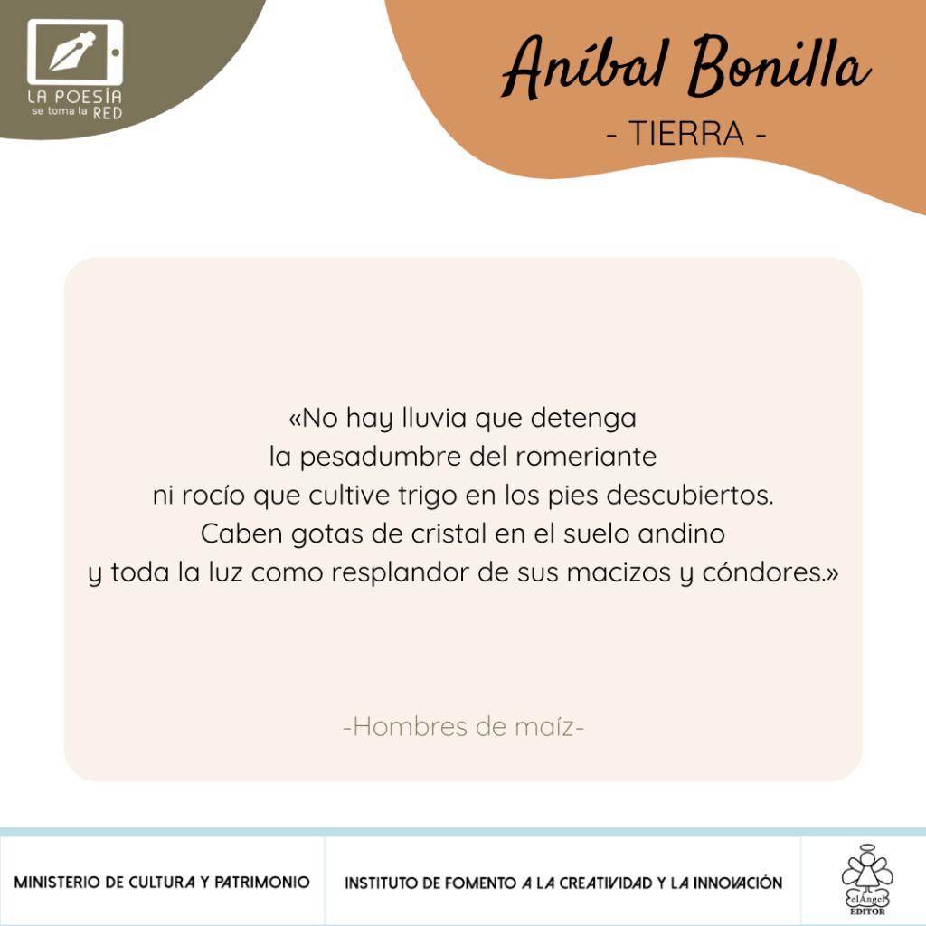 Verso Aníbal Bonilla