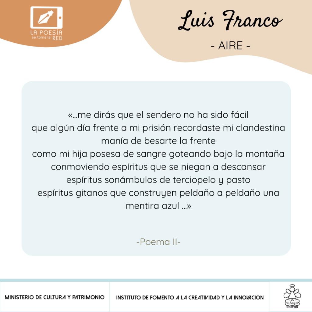 Verso-Luis Franco